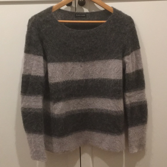 Eileen Fisher Sweaters - Eileen Fisher Striped Mohair Sweater